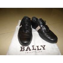 Zapatos Tenis Bally Negros Hombre 4-1/2mx Ó 6-1/2us Gucc Lv