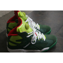 Reebok Shaq Attaq. Nuevos. Color Verde. Talla 8.5 Mx.