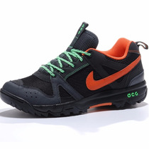 Nike Calzado Caminata Acg Salbolier Black & Orange Hiking