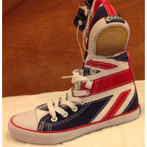 Tenis Bandera Inglaterra Uk One Direction Tipo Converse