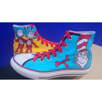 Tenis Converse Personalizado The Cat In The Hat Dr. Zeus Iph