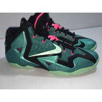 Nike Zoom Lebron Xi Premium South Beach 9 Mex 11 Us 100% Gen