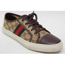 Gucci Remate Tennis Sneakers Originales 100% Talla 37 $4,500