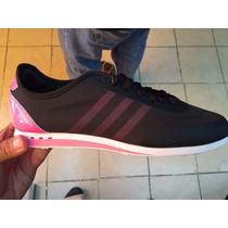 Tenis Adidas Dama Negro Rosa Ligero Nuevo