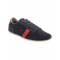 Tenis Lacoste Alisos 22 Sneakers In Navy Tela Nuevo Original