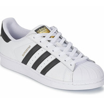 Adidas Superstar Fundation Gold Bota Choclo Blanco Negro
