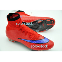 Tacos Mercurial Superfly Red Blue Tick Rojos Cr7 Env Inmedia