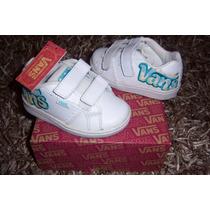 Vans Infantil De Piel Blancos Unisex No 12