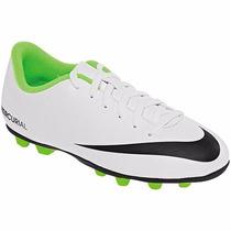 Tenis Nike Mercurial Vortex Fg-r 573871-103 Bla Futbol Oi