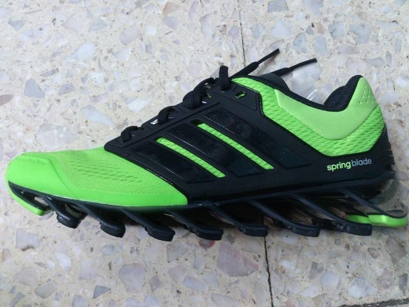 zapatillas adidas verde y negro