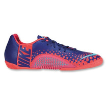 Nike Tenis Futbol Sala Nike5 Elastico Finale Azul Rosado Hm4