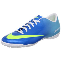 Tenis Futbol Nike Mercurial Victory 4 Turf Azul Neptuno Hm4
