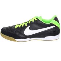 Tenis Nike 5 Tiempo Natural 4 Suela Sala Ic Negro Verde Gym