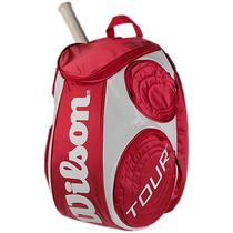 Backpack Wilson Negra Dorado Roger Federer Tennis Nadal