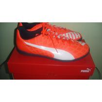 Tenis Turf Futbol Puma Evo Speed 5.4 100% Originales Naranja