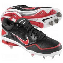 Excelentes Spikes Beis Nike Shox Gamer Negro/rojo 9.5 Mx