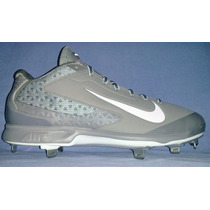 Excelentes Spikes Beisbol Nike Huarache Pro Low Metal Gris
