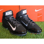 Spike Nike Air Huarache Pro Mid Metal / Negro 9 Mx - 11 Us