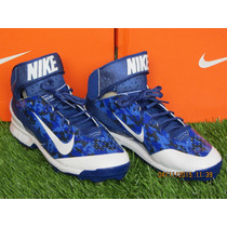 Spike Nike Air Huarache Camo Pro Mid Metal Azul 8 Mx - 10 Us