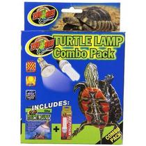Tb Acuario Decoración Zoo Med Combo Pack Turtle Lamp