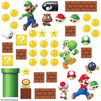 Roommates Nintendo Súper Mario Etiquetas Para Pared