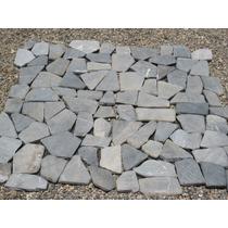 Piso De Piedra Gris (gray) En Malla