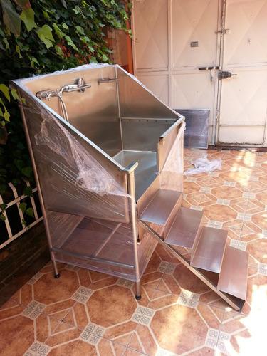 Baño De Tina Con Sal De Mesa:Tina De Acero Inoxi Para Baño Estética Canina Veterinaria – $ 13,000