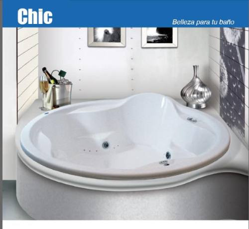 Baño Con Tina De Hidromasaje:Tina De Hidromasaje, Chic Redonda Formacryl – $ 26,73135 en