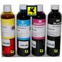 Tinta Dye 125mlts X 4 Colores P/epson,hp,lexmark,canon