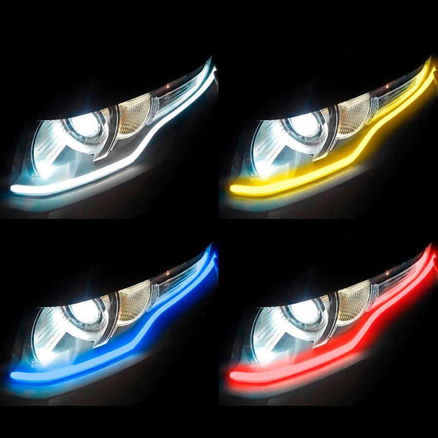 Tira flexible led drl 60cms luz de d a faros tipo audi bmw - Tipos de luces led ...
