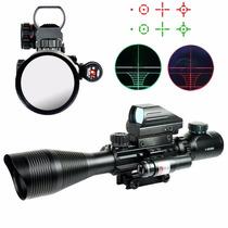 Mira Telescopica Para Rifle 4x12x50 Reticula Iluminada