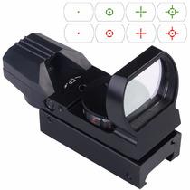 Mira Holografica Reflex Iluminada Rojo Verde 4 Reticulas