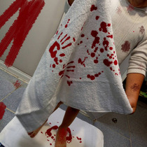 Toalla Sangrienta Sangre Halloween Manos Pies