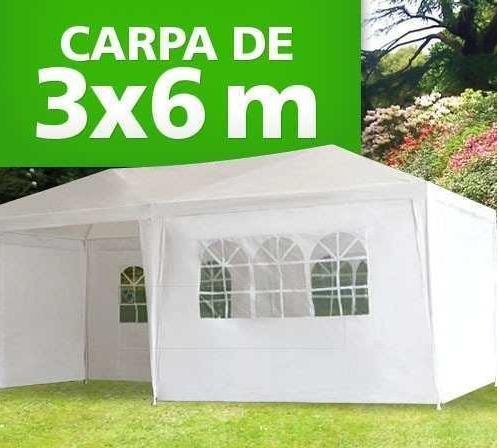 Toldo carpa 6 x 3m con paredes y ventanas para fiesta - Toldos para jardin precios ...