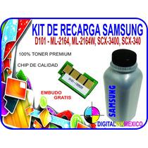 Kit De Recarga Toner Y Chip Samsung D-101 Ml2164 Scx3400