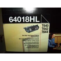 Remato 64018hl Toner Lexmark T640 T642 T644 100% Original