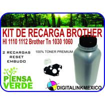 Kit Toner + Engrane Reset Hl 1110 1112 Brother Tn 1060 Jumbo