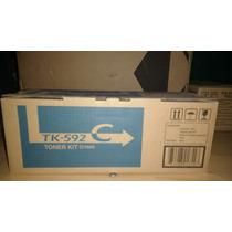 Kyocera Toner Tk 592c Cian Original Nuevo