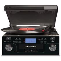 Consola Crosley Radio Cr6008a-bk Tornamesa Giradiscos Vbf