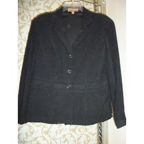 Precioso Saco Casual Negro Notations Para Dama T L-36