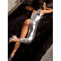 Traje Plateado Plástico Metálico Table Stripper Disfraz Plat