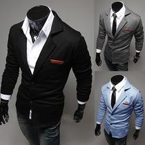 Blazer Hombre Slim Fit Elegante Moda Asiatica