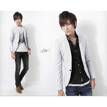 Saco Blazer Caballero Slim Fit Moda Asiatica