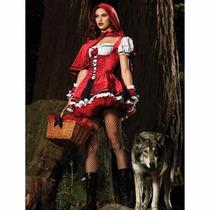 Disfraz/vestido Rojo Caperuticita Sexy Unitalla Poliester