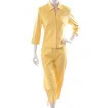 Conjunto Amarillo, Saco Y Pantalón Babara Bui
