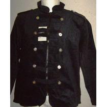 Saco Casual Vestir Corte Militar Stretch Extras 38 A 52