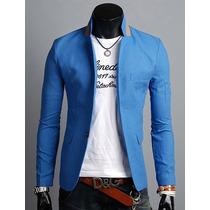Saco Blazer Elegante Para Caballero Moda Juvenil Slim Fit