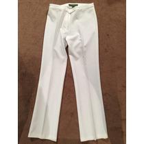 Pantalon De Traje Mujer Blanco Elegante Talla M 28mx Oficina