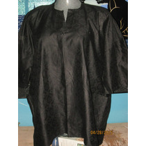Bluson Negro Plus Tipo Indu Grabado En Talla 4x Extragrande