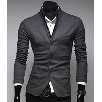 Saco Blazer Juvenil Casual Para Caballero Elegante Slim Fit